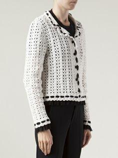 Chanel Vintage - o dobro jaqueta gola de crochê 10