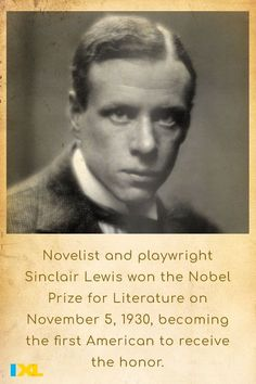 Critics praised the prolific Sinclair Lewis for his artistic descriptions and humor. He was also respected for his strong characterizations of modern women. #OnThisDay #TBT
