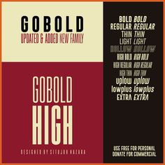 Gobold - Excellent Headline fonts