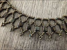 Excited to share the latest addition to my shop: Statement Necklace made out of Tila and beads, dark brown – DIY Home Decors , DIY Knitting , DIY Present , DIY Car - DIY Schmuck Tutorial Colar, Necklace Tutorial, Diy Tutorial, Beads Tutorial, Bead Jewellery, Jewelry Necklaces, Beaded Bracelets, Seed Bead Necklace, Diy Necklace