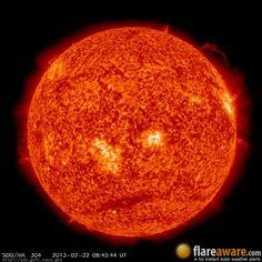 The hourly sun (at 08:45 am  UTC on 22 February 2013)