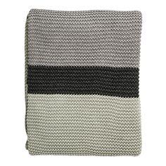 Knitted pläd, mint/grå i gruppen Textil / Plädar & Prydnadskuddar / Plädar & Filtar hos RUM21.se (1024617)