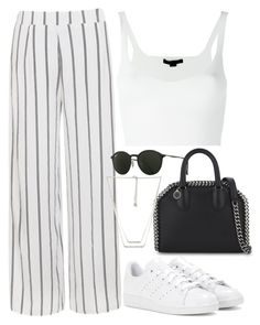 """Untitled #2708"" by camilae97 ❤ liked on Polyvore featuring Alexander Wang, STELLA McCARTNEY, Ally Fashion, adidas, Ray-Ban and Forever 21"