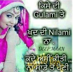 @manidrehar❤ Punjabi Quotes, Hindi Quotes, Qoutes, Girl Attitude, Attitude Quotes, Laughing Colors, Queen Quotes, Happy Quotes, Puns