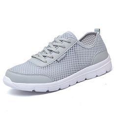 L-RUN Women's Lightweight Breathable Quick Drying Aqua Water Shoes Grey 4.5 M US >>> You can get more details by clicking on the image.