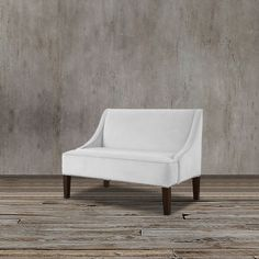 Complete your living room or any seating area with this unique loveseat.  Also used as a banquette bench, this comfy loveseat in classy in velvet upholstery.