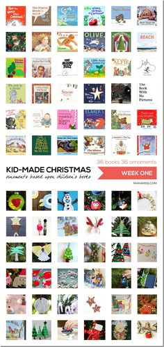 10 Days of a Kid-Made Christmas - featuring 70+ ornaments inspired by childrens books! | @mamamissblog
