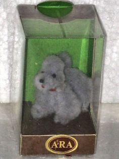 ARA Austria Gray Poodle WOOL POCKET PET Vintage 1970's NOS Boxed Handmade RARE! (04/10/2013)