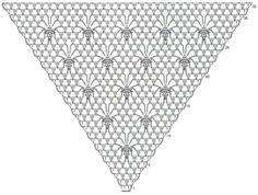 My Hobbies I Love Crochet Patterns Free Crochet shawl ~ I think they look like little honey bees! Crochet Chart, Love Crochet, Crochet Stitches, Shawl Patterns, Crochet Patterns, Easy Crochet Shrug, Russian Crochet, Triangle Scarf, Crochet Clothes