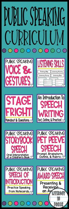 A complete public speaking curriculum unit. Everything you need to teach public speaking! Active Listening, Listening Skills, Middle School Teachers, New Teachers, Book Outline, Public Speaking Tips, Book Prompts, Presentation Skills