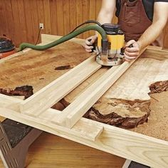 Enjoyable Inspiration Wood Slab Furniture How To Work With Natural Edge Slabs WOOD Magazine The Rich Contours Of Edges Give Tables Benches And Other Projects A Sculptural Quality Almost As Much Art Tema Design Site Awesome Woodworking Ideas, Woodworking Power Tools, Woodworking Techniques, Woodworking Supplies, Woodworking Jigs, Woodworking Furniture, Woodworking Projects, Woodworking Machinery, Woodworking With Logs