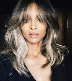 Insane Wow, could Ciara look any more sultry sophisticated in her lob? Accented with face-framing highlights and extra-long bangs, this is a killer lob look you'll want to s ..