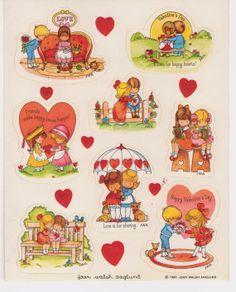 Hallmark Vintage 1980 Joan Walsh Anglund Sticker by RosiesStickers, $6.99