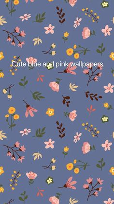 Cute blue and pink wallpapers