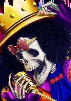 #Brook #yohoho #yomiyominomi #onepiece #mugiwara #strawhats #chapéudepalha #pirate #pirata #skeleton #esqueleto #blackpower #anime #manga #fanart