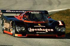 """A.J. Foyt Porsche 962 Daytona's """"bus stop"""" 1988"""