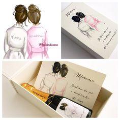 A noiva Aline chegou com um pedido lindo: um desenho para personalizar os mimos das madrinhas!  Bor - confeitariadeconvites