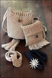 Resultado de imagen para bolsos y carteras en macrame