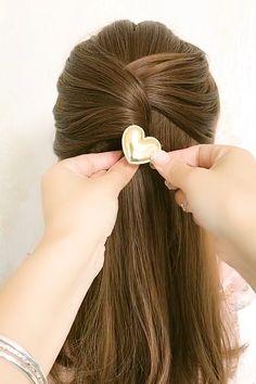 Hairdo For Long Hair, Long Hair Video, Bun Hairstyles For Long Hair, Hairstyles Videos, Hair Ponytail Styles, Front Hair Styles, Hair Style Vedio, Hair Tutorials For Medium Hair, Hair Videos