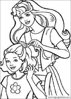 Barbie Coloring Pages Printable To Download Httpprocoloringcom - barbie coloring pages that you can color online
