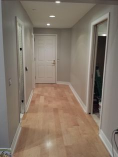Beautiful Dark Floors Grey Walls- Delightful for y Wall Paint Colors, Room Colors, House Colors, Hardwood Floor Colors, Hardwood Floors, Light Grey Walls, Gray Walls, Maple Floors, Grey Flooring