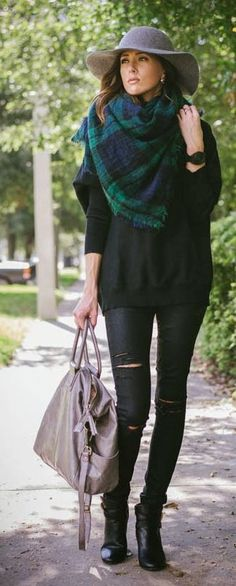 Green Multi Plaid Scarf by Sequins & Things