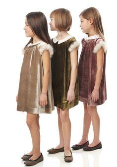 Fendi fall/winter 2013 beautiful velvet dresses for the holiday season childrenswear