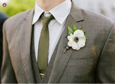 gray-brown suit and green tie.... LOVE.... favorite so far... perfect coloring