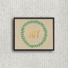 Joy Instant Download Printable Art Gold Foil by SincerelyByNicole