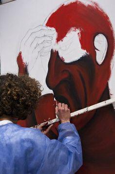 Aluno pintando - curso RPE - 2012/2013 Verdi reinventado.
