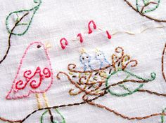 Saturday Stitches: Love Birds Hand Embroidery Pattern Pack in PDF by thesplitstitch, $4.00