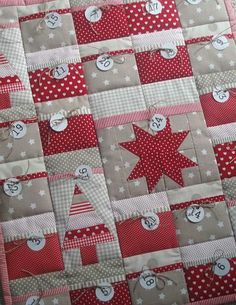 Advent calendar quilt. I am so making these for next year.