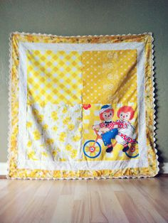 #raggedy ann & andy vintage sheet quilt
