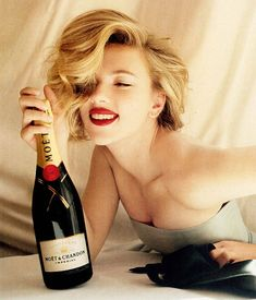 Scarlett Johansson with Moet & Chandon
