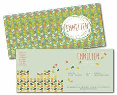 Een retro geboortekaartje voor Emmelien! www.loekadoe.com