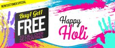 Holi offer Exclusively for new customers absolutely free! Holi Offer, International Calling, Calling Cards, Happy, Free, Ser Feliz, Being Happy