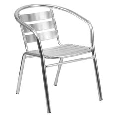 Flash Furniture TLH-1 Heavy Duty Aluminum Commercial Indoor-Outdoor Restaurant Stack Chair - TLH-1-GG