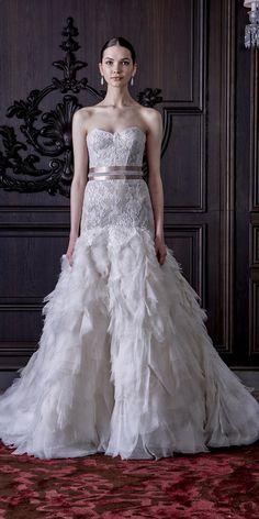 Monique Lhuillier Spring 2016 Wedding Dresses / http://www.himisspuff.com/monique-lhuillier-spring-2016-wedding-dresses/4/