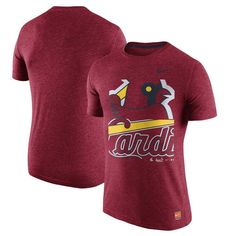 St. Louis Cardinals Nike Cooperstown Collection Logo Tri-Blend T-Shirt - Heathered Red - $34.99