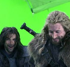 Kili & Fili learning how to ride an eagle.