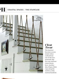 From Coastal Living Magazine....what a great idea for a beach or lake house.