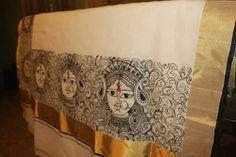 The durga saree- pallu work