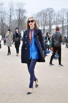 Joanna Hillman, Paris Fashion Week doubling up buttercup