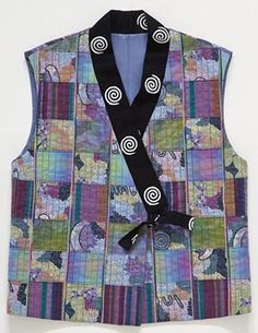 A SHOCK OF MOVEMENT IN HER PIECE MAKES FOR A VERY ARTISTIC VEST.  IT CAN BE YOUR'S!  AND YOU CAN SAY YOU MADE IT YOURSELF!!