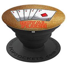 Poker Player Royal Flush Texas Hold 'Em Vegas All In Design Pop Socket. #popsocket #poker #texasholdem