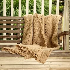 Hand Crochet Afghan khaki Lace Color Autumn by FoundationCreations, $300.00