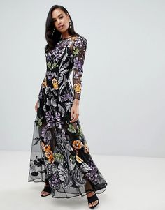 84fa705a8bd EDITION nouveau embroidered maxi dress