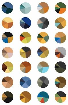 Arthur Buxton: Van Gogh Visualisation: This is Arthur Buxton's set of Van Gogh pie-charts; each one represents the color-distribution in a famous Van Gogh painting Colour Pallete, Colour Schemes, Color Combos, Color Palettes, Colour Chart, Color Mixing Chart, Vincent Van Gogh, Cores Rgb, 3d Foto