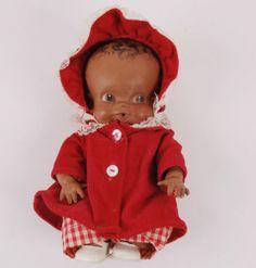 Rare Vintage Amosandra Black Doll by Ruth E. Newton Sun Rubber Co. Amos & Andy
