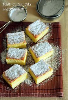 Magic Custard Cake, Eat Pray Love, Cake Bars, Love Cake, Homemade Cakes, Dessert Recipes, Desserts, Scones, Cornbread